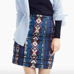 J.Crew jacquard mini skirt